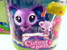 Littlest Pet Shop Cutest Pets Mommy Baby KOALA lot #2501 #2502 Rare Retired NIB