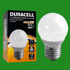 12x 3.7W Dimmable Duracell LED Pearl Mini Globe Instant On Light Bulb ES E27