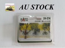 """KATO 24-214 N-Scale Model Figure """"Middle-aged People on a bicycle"""", model train"""