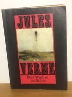 Jules Verne - Fünf Wochen im Ballon -  DDR Neues Leben 1978 Paperback