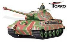 Torro  RC Panzer 1:16 Königstiger mit Porsche Turm IR Sommertarn Grün 1111738882