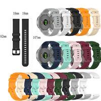 Watch Strap Watchband w/ Small Plaid for Garmin Vivoactive 4S / Vivomove 3S New