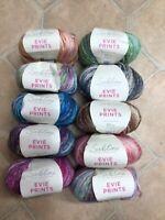 5 x 50g Sublime Evie Prints Wool/Yarn for Knitting/Crochet