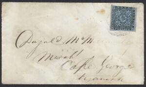 1856 Nova Scotia #3 3d Dark Blue On Halifax to Antigonish Cover