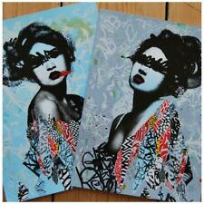 Unseen I & II by Hush SIGNED Ltd Edition x/225 Art Print Set MINT Poster