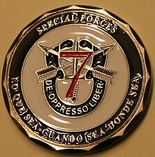 7th Special Forces Group Airborne (SFGA) Afghanistan Army Challenge Coin