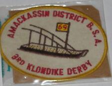 Suffolk Co Council (NY) 1969 Amackassin Klondike Derby Pocket Patch  BSA