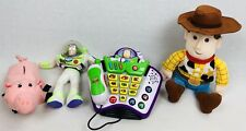 Toy Story Buzz Lightyear Vtech Walt Disney Phone Voice Changer w/ Plush Puppets