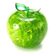 Green Apple Shaped 3D Crystal Puzzle Sculpture Novelty Gift 44 Pieces