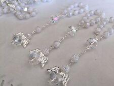 35 BAPTISM FAVORS WHITE Color Rosary Recuerdito1st Communion wedding party favor