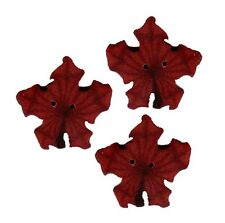 """Sm Orange Maple Leaf Polymer Clay Button Pack of 2-11//16/"""" x 5//8/"""" FREE US SHIP"""