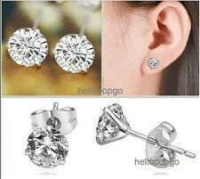 18K White Gold Gp Austrian Crystal Lady Jewelry Cute Studs Earrings BR514