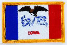 Ecusson Brodé PATCH drapeau IOWA USA AMERICAIN ETATS UNIS FLAG EMBROIDERED