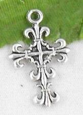 Free Ship 26Pcs Tibetan Silver Cross Pendants 23x14mm