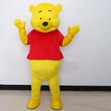 Christmas Winnie The Pooh Mascot Costume Adult Cartoon Character Fancy Dress