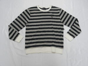 Von Zipper Men Large Sweater Striped Black