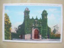 VINTAGE POSTCARD U.S.A.- PLYMOUTH CHURCH - COCONUT GROVE MIAMI FLORIDA Ref 2094