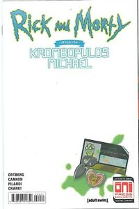 ONI Rick and Morty Presents Krombopulos Michael 1 Sketch Cvr variant Never Read