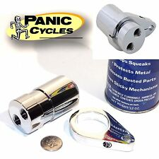 CHROME EBOC BREATHER RESERVOIR TANK/CAN KIT ONLY -HARLEY TRIUMPH HONDA BMW XS650