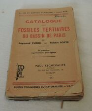 Vintage and Antigue 1947 Catalogue des Fossiles Tertiaires du Bassin de Paris