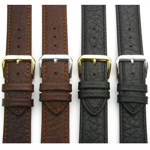 Leather XL Watch Band Strap Camel Grain Extra Long by CONDOR 18mm 20mm 051L