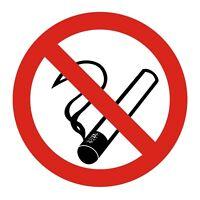Zehn 10 Stück Rauchverbot rauchen verboten no smoking Aufkleber 6 cm VON INNEN
