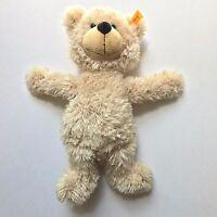 "Steiff Knoph Teddy Bear Plush IM OHR Toy Germany Fredrick Tan 12"" 671388 FAO"