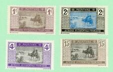 Mauritania 4 stamps, SC 18 - 20, 26, Crossing the Desert, 1913 - 17, MPH