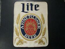 "MILLER LITE High genuine True Pils 8"" PATCH sew on craft beer brewing brewery"