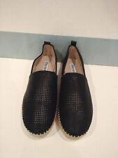Steve Madden 9 Black Platform Flats Espadrilles Natural Closed Choppur Shoes New
