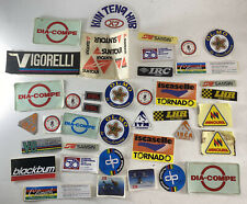 39 Lot of Vintage Bmx & Bicycle Racing Stickers Decals Tires Cycling Parts Bike