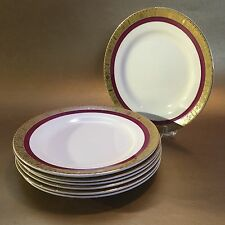 "4 Burleigh Ware Zenith Art Deco English Pottery Antique 6"" Bread Plates"