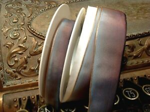 Vintage Rayon Ribbon Acetate Ombre Blue Mink Brown 1yd Made in France