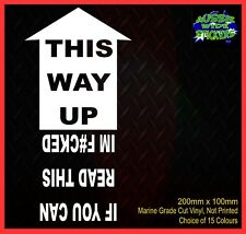 THIS WAY UP 4x4 ute Camping Car Aussie BNS JDM Funny Stickers 200mm