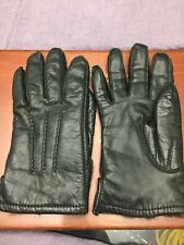 "BALLYMOOR vtg leather fur lined black three points gloves 9.5"" MEDIUM"
