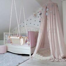 2.4m Ciel Rond De Lit Moustiquaire Canopée Baldaquin Tente bébé Enfant Maison