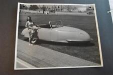 Vintage Photo Pretty Girl in Swimsuit RARE 1948 Davis Divan 3 Wheel Car 892008