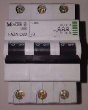 Klöckner Moeller FAZN C63-3 3polig Sicherungsautomat -Ungebraucht- NEU 6kA 63A