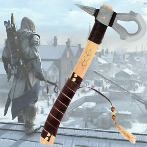 Replica Tomahawk Assassin's Creed - Axe Connor Kenway - Resin And Wood - New