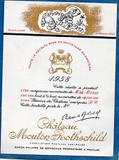 PAUILLAC 1GCC ETIQUETTE CHATEAU MOUTON ROTHSCHILD1958 37.5 CL DECOREE §12/06/17§