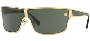 NEW Genuine VERSACE MEDUSA MADNESS Gold Grey Green Sunglasses VE 2206 1002/71