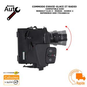 COMMODO INTERRUPTEUR ESSUIE GLACE RADIO RENAULT CLIO SCENIC MODUS OEM 7701068114