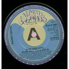 "Barry White ‎– Rum And Coke (Rum And Coca-Cola) - 7"" Vinyl -1980  (PROMO)"