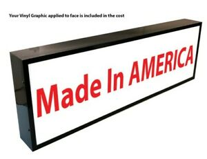 """OUTDOOR LED LIGHT BOX SIGN 48""""x60""""x6"""" WITH FULL COLOR DIRECT PRINT GRAPHICS"""