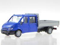 Ford Transit 2005 DoKa PickUp blue modelcar Rietze 1:87