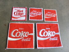1970s Lot of 5 Enjoy & Diet Coca Cola Soda Patch Lot All Removed From Uniform @@