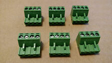 QTY 6     4 pin - 5.08mm / Quick Speaker Connector Terminal Block - Phoenix Plug