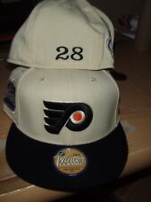 Claude Giroux personalized #28 Philadelphia Flyers Fitted White Reebok Hat  New!