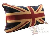 Authentic Wovenmagic Luxury Cotton Vintage Union Jack Cushion +inner 73x17x30CM