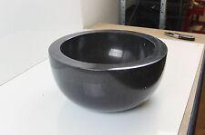 Cloakroom wash basin 30 cm black marble